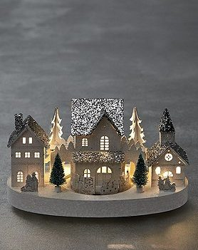 Lit House Scene With Train